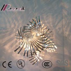 Металлические уникальный дизайн витая искусства утюг режущий подвесной светильник