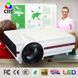머리 위 영상 소형 LED 영사기 1280*768 Portable 영사기