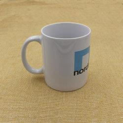 2015 Personalizar taza de café de cerámica blanca con Logp Imprimir