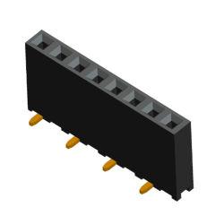 Type CMS simple rangée de 2,54 mm femelle connecteur à broches de barre de coupe IC Socket