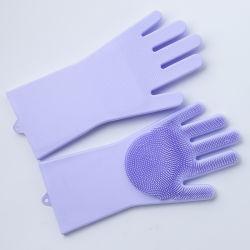 قفازات Silicone خالية من الانزلاق للمطبخ أو الحمام