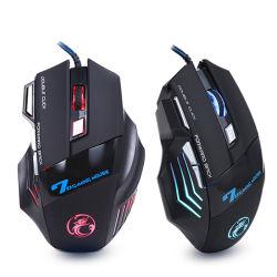 Проводная мышь для игр 7 , 5500 DPI LED кабель USB к компьютеру мышь геймер мышей X7 Silent Mause с подсветкой для портативного компьютера