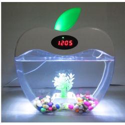 Réservoir de poissons d'Aquarium avec LED de lumière et de pompe à filtre