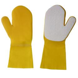Guanti di gomma di lavaggio della spugna di pulizia del lattice del bagno del silicone con la spugna
