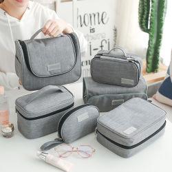 RPET promocionais saco de arrumação de viagem impermeável conjuntos de sacos de cosméticos