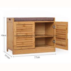 Salón de madera maciza multicapa armario de zapatos de bambú