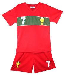 Les enfants de l'été Shorts de football garçons Tee Shirt costumes de Soccer Basket-ball filles Tops Vest Kit l'âge 2-12 ans Sports wear