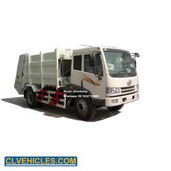 FAW 4X2 10cbm 후방 로더 쓰레기 쓰레기 압축 분쇄기 트럭은 쓰레기 트럭 낭비에 의하여 압축된 트럭을 압축했다