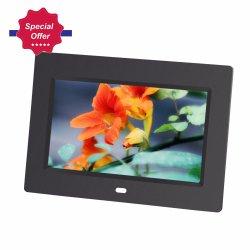 Estrutura do espelho de 7 polegadas de 800*480 pixels moldura fotográfica digital de vídeo de papelão com Sensor Montion