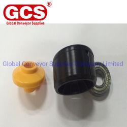 コンベヤーのローラーの六角形の重力のローラーのためのプラスチックエンドキャップのプラスチック軸受ケーシングそしてエンドキャップ
