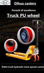 Carrello elevatore a forche 20*50 idraulico ruota in ghisa a nucleo PU per auto Ruota speciale