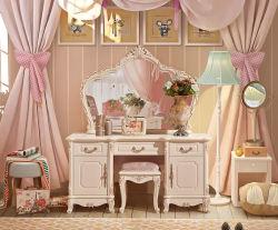 Toilettafel van de Slaapkamer van het Meubilair van het Huis van de luxe de Vastgestelde Klassieke Stevige Houten