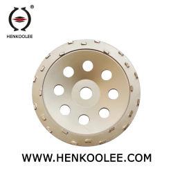 7 polegadas moagem PCD Cup roda para remover a cola epóxi revestimento da superfície do piso