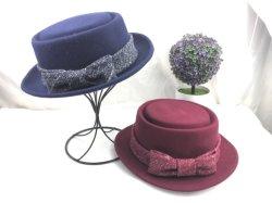 Feutre de laine de haute qualité Fedora Porkpie Lady Hat