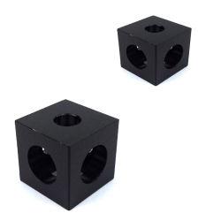 Coin de l'aluminium personnalisé 3 façons, l'aluminium des cubes, Fraisage CNC partie usinée