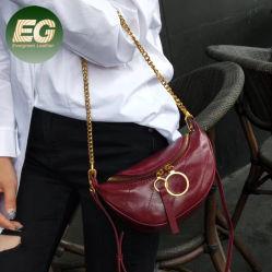 متأخّر إتجاه نمط مقلاع حقيبة مصغّرة حقيقيّة جلد حقيبة يد كتف وسط حقيبة لأنّ نساء [إمغ5955]