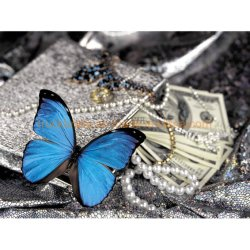 L'amour de Butterfly Square Rhinestone Diamond peinture Dlh1010