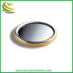 Impressão personalizada ao redor do lado único de metal de estanho Pocket Mirror para promoção dons