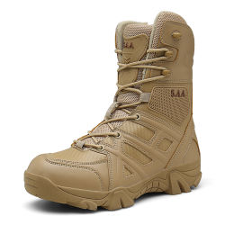 Personalizada marrón largo de la Calidad de Servicio Pesado botas militares del Ejército francés