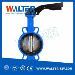 الصين المصنع صمام فراشة من نوع شجر الفولاذ المقاوم للصدأ تعمل يدويا مع قائمة الأسعار