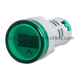 L'affichage numérique voltmètre connecteur 22mm AC60V-500V Feux de l'indicateur Volmeter