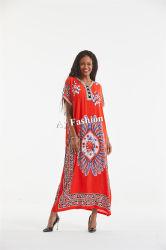 [أفريكن] متأخّر ثوب شريط طوق وزرّ لأنّ ثوب