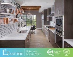 MFC melamina de alta calidad tonos madera clara de madera de grano gabinetes de cocina
