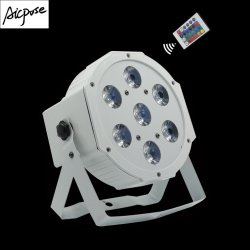 Controle remoto por luz branca 7X12W4NO1 Lâmpada de tingimento Estágio