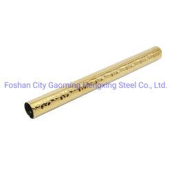 201 tubo rotondo dorato saldato 304 gradi dell'acciaio inossidabile