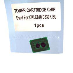 Oki C810 C830 Mc851cdtn (44059105 44059106 44059107 44059108)를 위한 토너 카트리지 칩