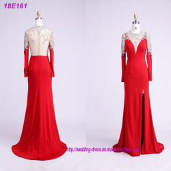 OEM / ODM La fabrication de vêtements cordon rouge robe de soirée