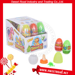 Carretera de dulce de huevo de dinosaurio de juguete con pezón caramelos