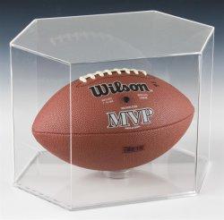 Portas de acrílico transparente vitrina com Base para bolas de futebol