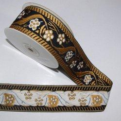 Abitudine del poliestere di colore del nastro del ricamo del nastro dell'annata con il fiore di marchio per la tessitura della decorazione dei vestiti