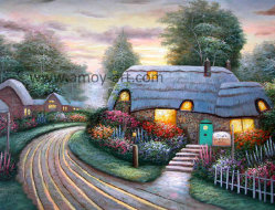 ホーム装飾のためのトマスの庭の油絵の再生