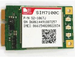Módulo Lte 4G7100SIM c para trás para 3G/2,5G/GPRS Módulo Sem Fios
