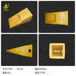 Kobelco Sk230 Series Standard Bucket Tooth Point، الحفار وجرافة اللودر Tooth والمحول، قطعة غيار ماكينة التشييد