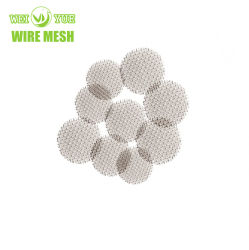 304 schermi di cristallo del tubo di fumo di fumo dell'acciaio inossidabile del filtrante della ciotola rotonda d'ottone di titanio della rete metallica