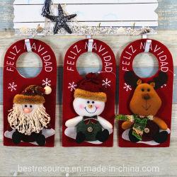 25*13cm neues Entwurfs-Plüsch-Weihnachtshängendes Dekoration-Geschenk für Weihnachten Weihnachtsmann/Schneemann/Hund angefülltes Toys-36171