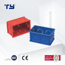 Novo Design PVC-U caixa de junção DIN com dez porta de derivação (118 estilo) de isolamento Conduitsystem Elétrico (JG - vermelho/azul)