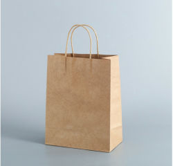 Sacchetto di acquisto stampato promozionale ecologico della carta kraft del Brown di marchio
