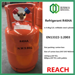 Хладагент R404A к EN13322 Refillabel Стальной цилиндр с Qf-13y клапан