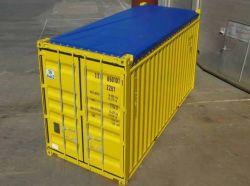 出荷の貨物専用コンテナカバーのための19oz青い光沢のあるRainproof PVC Tarps