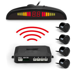 Os sensores de Estacionamento sem fio traseira LED Carro 4 Sensores de radar de cópia de alta sensibilidade