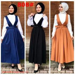 Sangles à la mode islamique musulmane jupe Abaya musulmane Maxi tenue décontractée Vêtements Costume Fashion Mesdames Canada USA Hot la vente d'usine de longue robes de femmes maxi
