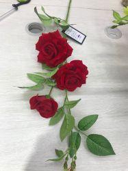 Fleurs décoratives Rose artificielle des bouquets de Mariage Décoration maison