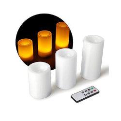 먼 색깔 왁스 불꽃 없는 LED 초