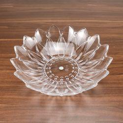 L'acrylique Assiette de fruits/Round Diamond Crystal Bur ronde/la plaque de plastique transparent du bac de bonbons
