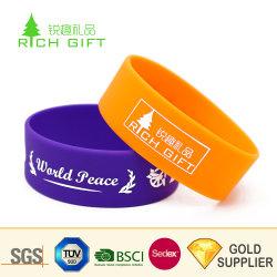 Cheap Wholesale Novedad Impresión de logotipo personalizado del producto encaje pulseras para fiesta