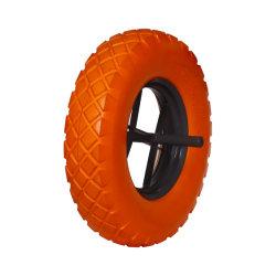 4.00-8 Tgum резиновые плоские свободного PU пены твердых колес тележки